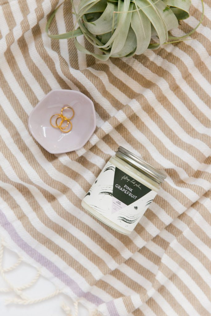 pink grapefruit soy wax candle made in memphis tn