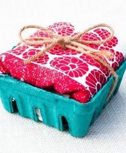 raspberry kitchen towel handmade in california