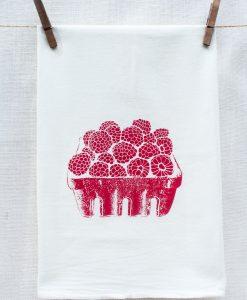 raspberry kitchen towels pop shop