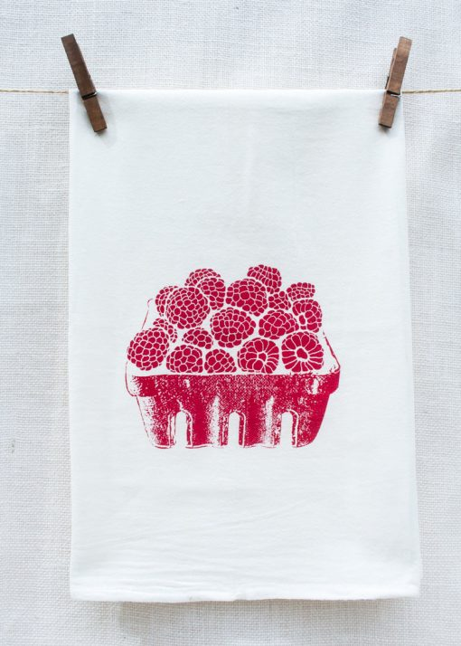 raspberry kitchen towels pop shop