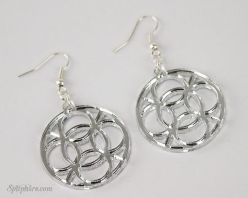 spitphire celtic circle mirrored earrings