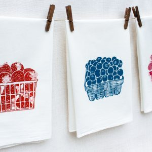 strawberry blueberry and raspberry kitchen towels
