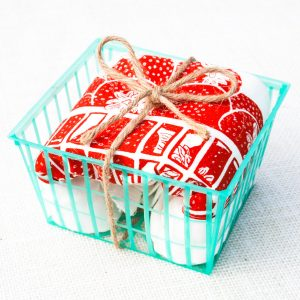 strawberry tea towel packaged pop shop america