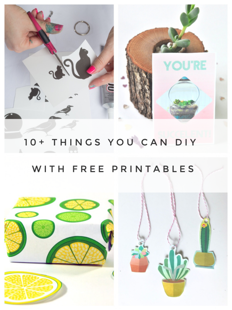 10 + things you can diy with free printables