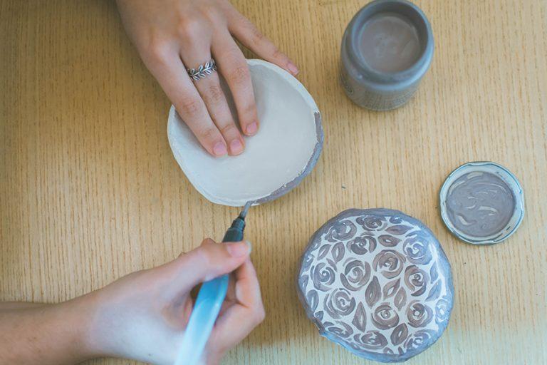 Decorating DIY Jewelry Plates