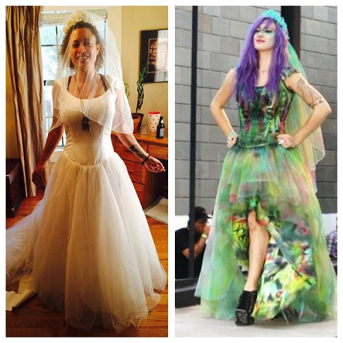 Forgotten Arts Before and After wedding dress