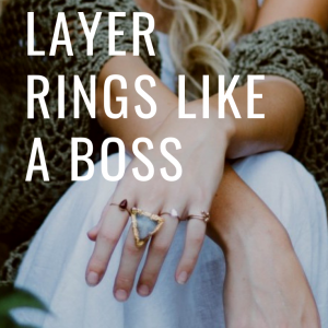 how to layer rings jewelry idea pop shop america
