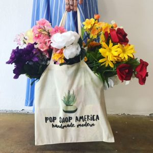 pop shop america succulent tote bag