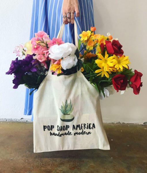 pop shop america succulent tote bag