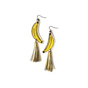 Banana_Earrings__Gold_Tassel_Earrings__Fruit_Earrings__Yellow_and_Gold_Earrings__Pop_Art_Earrings__Statement_Earrings