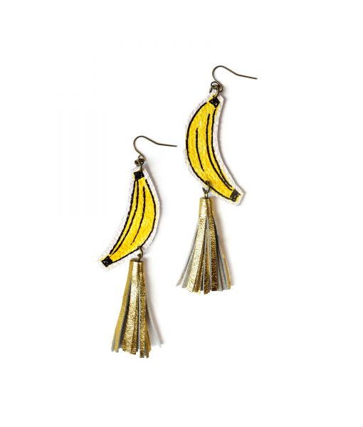 Banana_Earrings__Gold_Tassel_Earrings__Fruit_Earrings__Yellow_and_Gold_Earrings__Pop_Art_Earrings__Statement_Earrings_3
