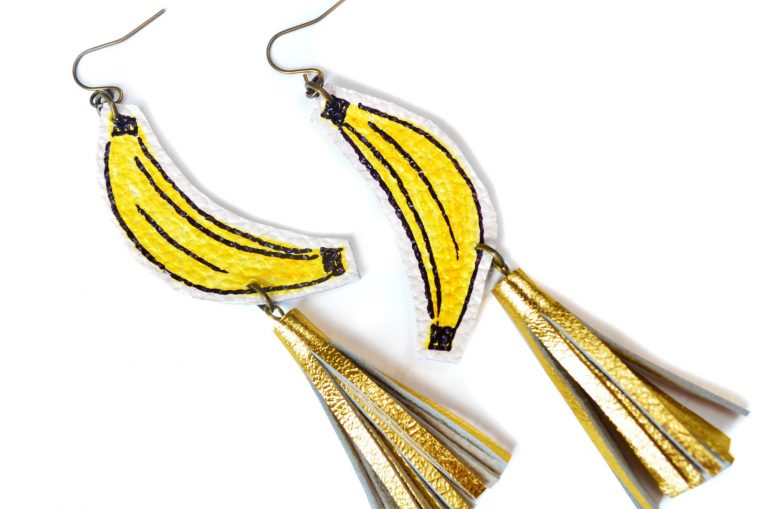 Banana_Earrings__Gold_Tassel_Earrings__Fruit_Earrings__Yellow_and_Gold_Earrings__Pop_Art_Earrings__Statement_Earrings_5