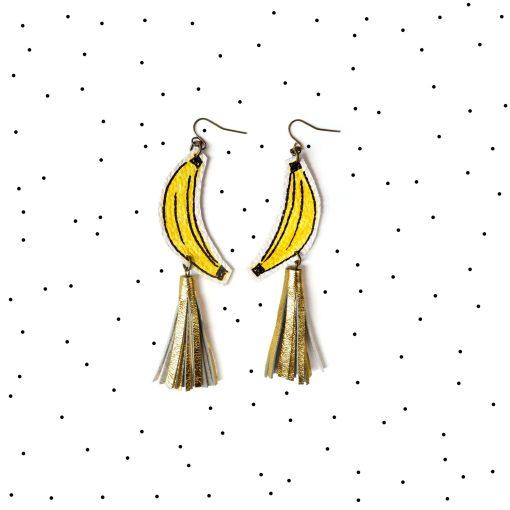 Banana_Earrings__Gold_Tassel_Earrings__Fruit_Earrings__Yellow_and_Gold_Earrings__Pop_Art_Earrings__Statement_Earrings_6