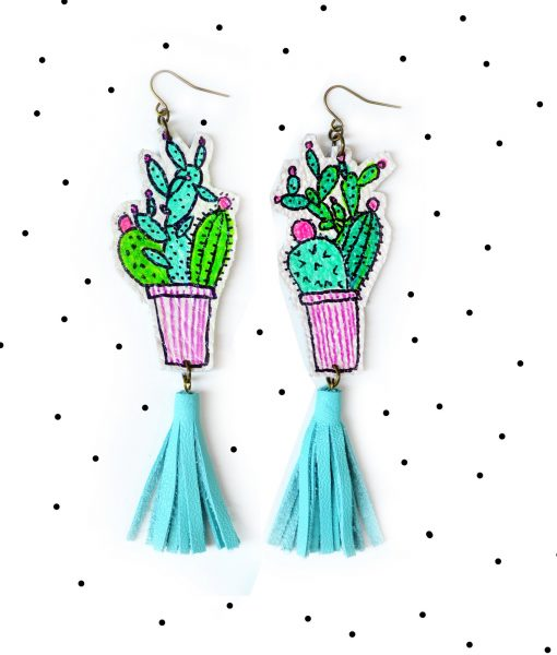Cactus_Earrings__Mint_Earrings__Teal_Tassel_Earrings__Green_Plant_Earrings__Leaf_Earrings__Long_Statement_Earrings__Illustration_Earrings_6 (1)