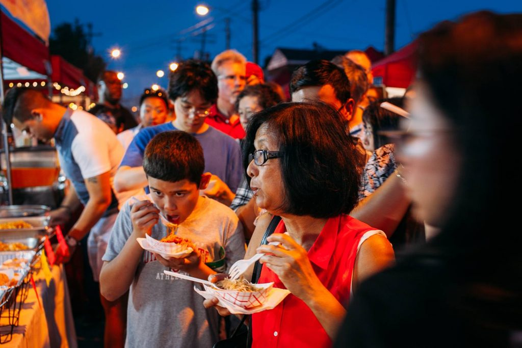 FAMILY 2 food at cleveland night market