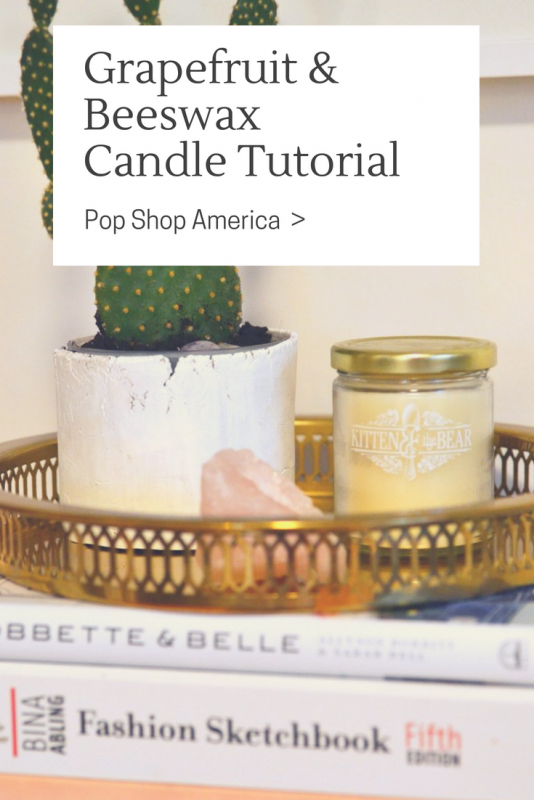 Grapefruit & Beeswax Candle Tutorial