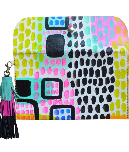Leather_Clutch__Neon_Leather_Tassel_Bag__Abstract_Art_Clutch__Envelope_Clutch_Bag__Leather_Purse_2