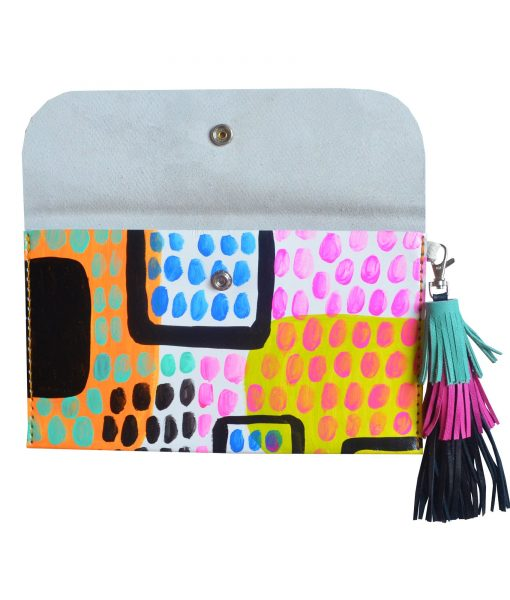 Leather_Clutch__Neon_Leather_Tassel_Bag__Abstract_Art_Clutch__Envelope_Clutch_Bag__Leather_Purse_5