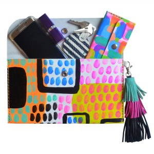 Leather_Clutch__Neon_Leather_Tassel_Bag__Abstract_Art_Clutch__Envelope_Clutch_Bag__Leather_Purse_6