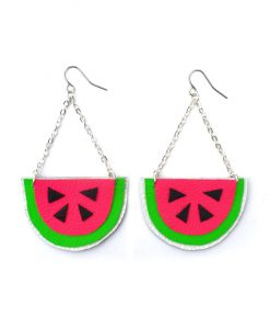 Watermelon_Earrings__Hot_Pink_Earrings__Fruit_Earrings__Pop_Art_Earrings__Leather_Earrings