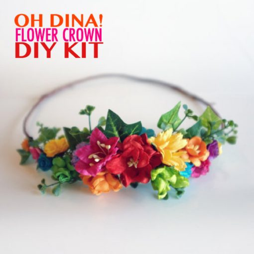 diy rainbow flower crown kit pop shop america