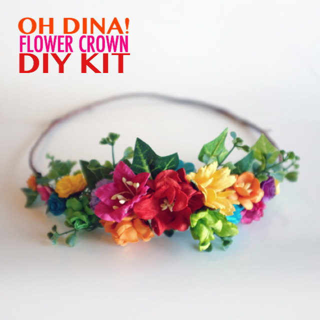 Rainbow Flowers Diy Flower Crown Kit
