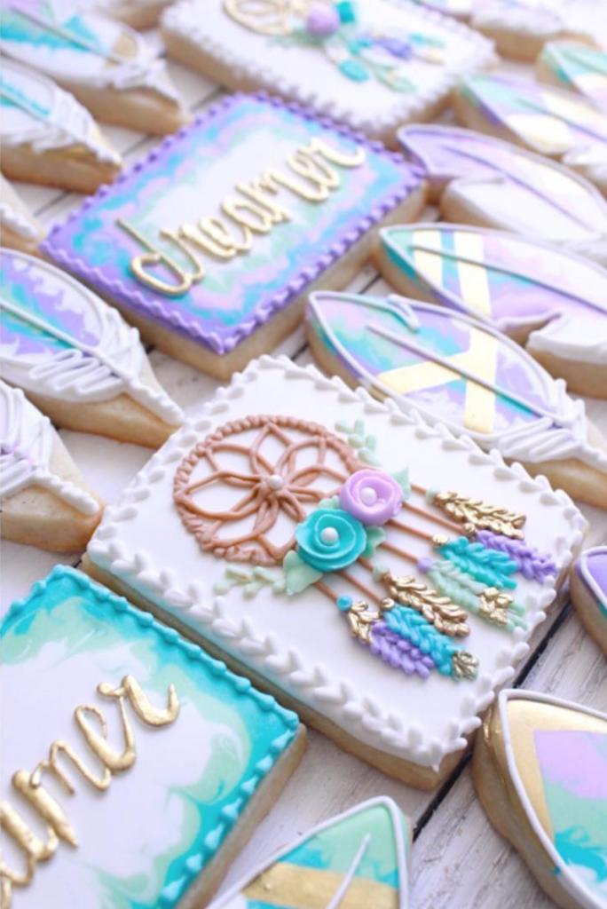 dreamcatcher cookies by bake hard bakery