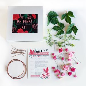 make your own blush pink flower crown pop shop america