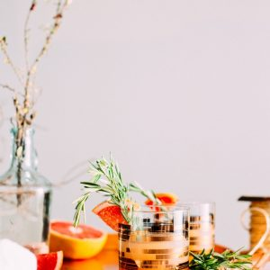 pink garden cocktail - rosemary and grapefruit cocktail recipe pop shop america