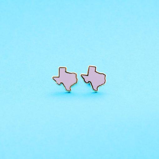 pink texas stud earrings 22k gold studs
