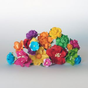 rainbow flowers supplies diy flower crown kit