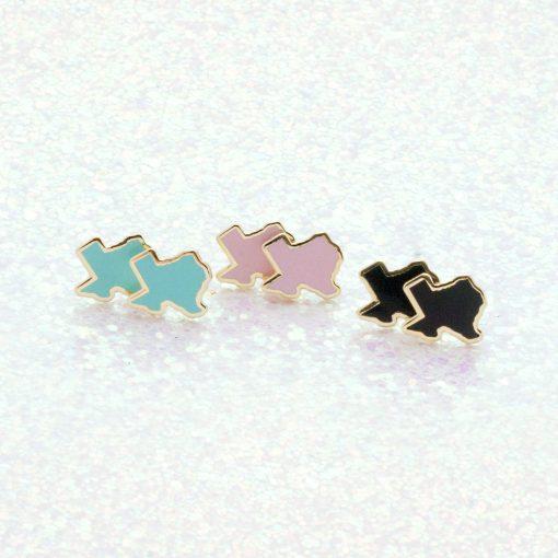 rainbow texas stud earrings hero pop shop america