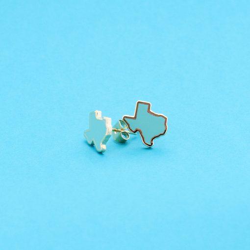 turqoise texas stud earrings 22k gold jewelry