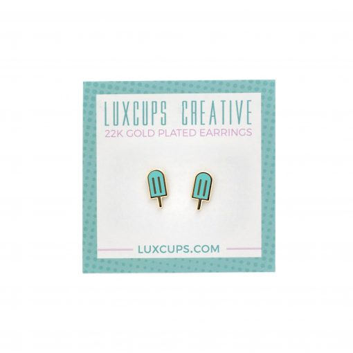 turquoise popsicle earrings stud earrings by lux cups austin tx