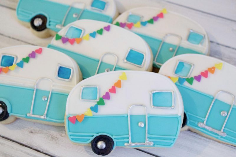 vintage air stream cookies by bake hard bakery