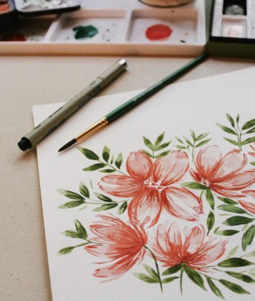 watercolor basics craft class by pop shop america