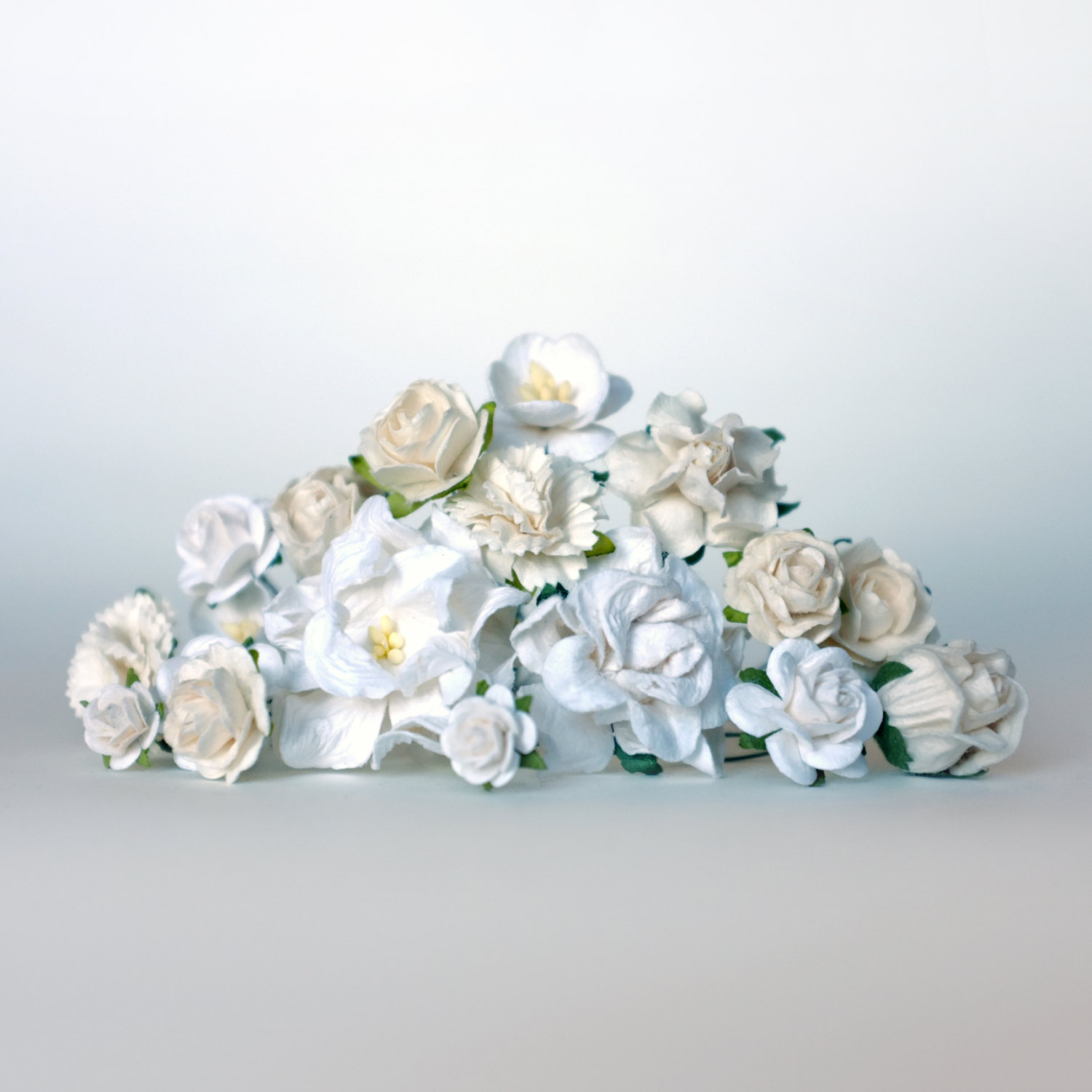 White Flowers DIY Flower Crown Kit - Pop Shop America