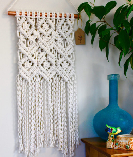 boho macrame wall hanging art by pop shop america