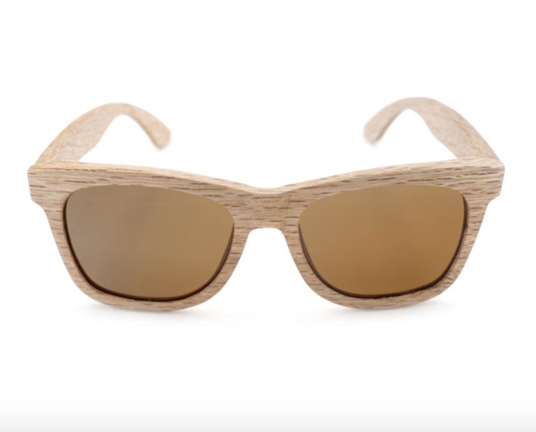 brown lens bamboo wood sunglasses