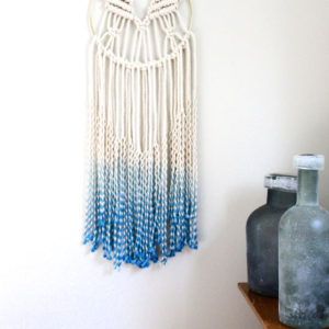 detail-of-ombre-blue-circle-macrame-wall-hanging
