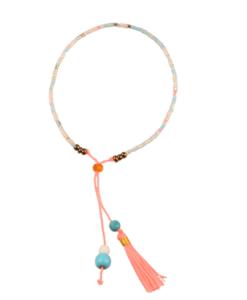detail of seed bead tassel bracelet pop shop america handmade jewelry