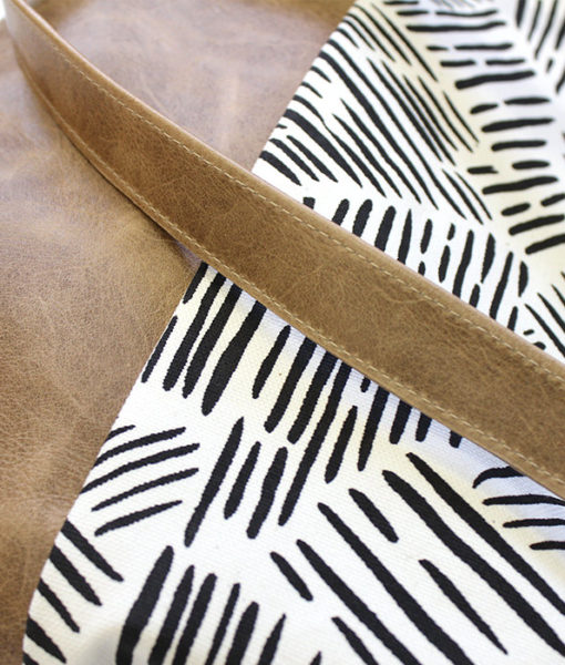 detail of zana leather purse - large leather tote
