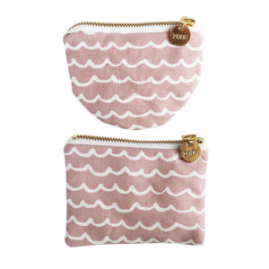pink waves coin purse handmade accessories
