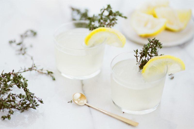 the summer sun lemon thyme cocktail recipe pop shop america
