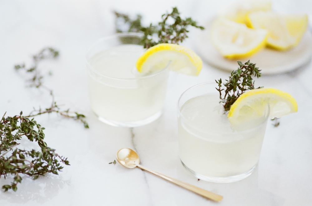 the summer sun lemon thyme cocktail recipe pop shop america