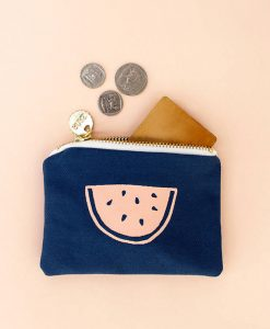 watermelon coin purse - canvas pouch handmade accessories at pop shop america