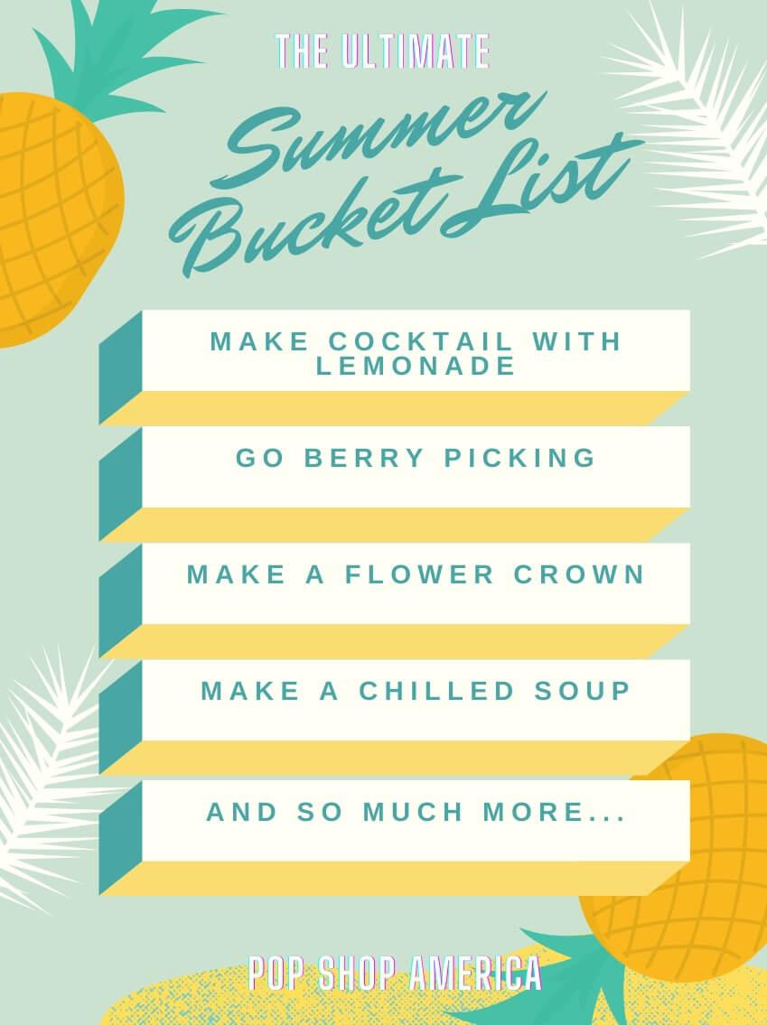 Summer Bucket list Checklist pinnable graphic