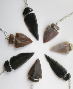 agate arrowhead necklaces & obsidian arrowhead necklace pop shop america
