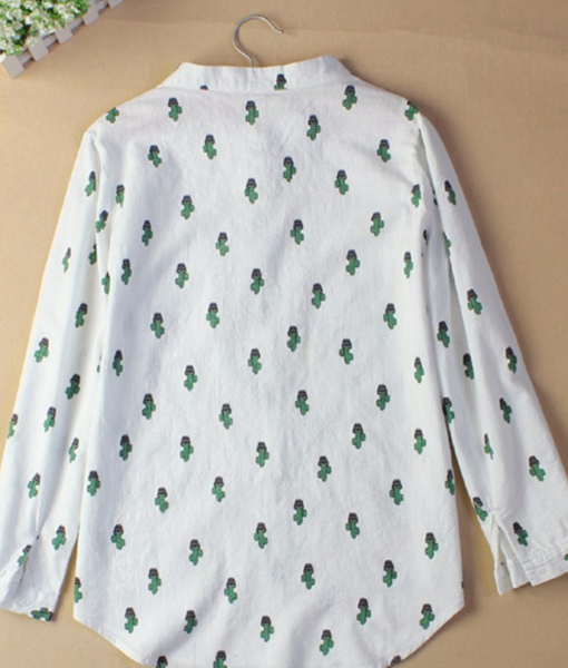back of cropped collar cactus blouse pop shop america
