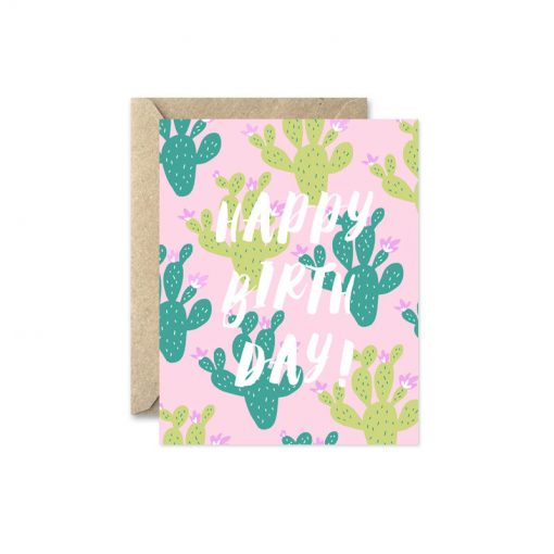 cactus happy birthday card pop shop america